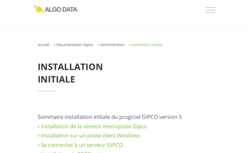 Installation initiale