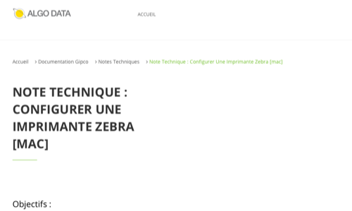 Note technique : Configurer une imprimante Zebra [MAC]